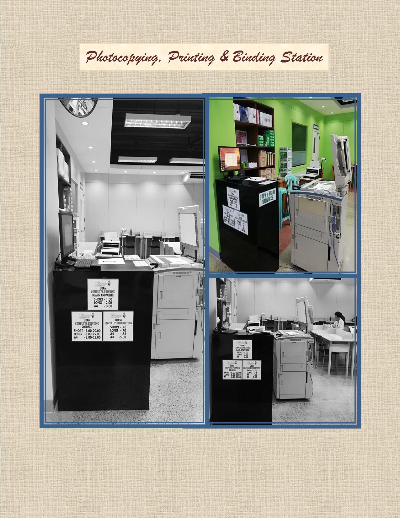 Photocopying, Printing and Binding
