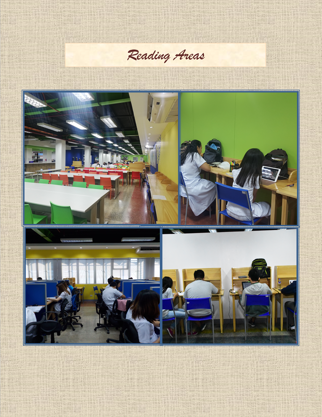 Reading Areas